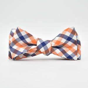 Collegiate Quad: Bow Tie - Orange/Blue