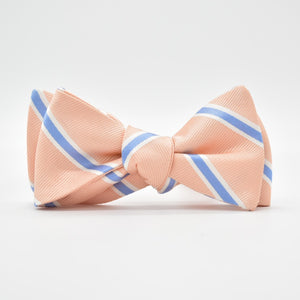 James: Bow Tie - Peach/Blue