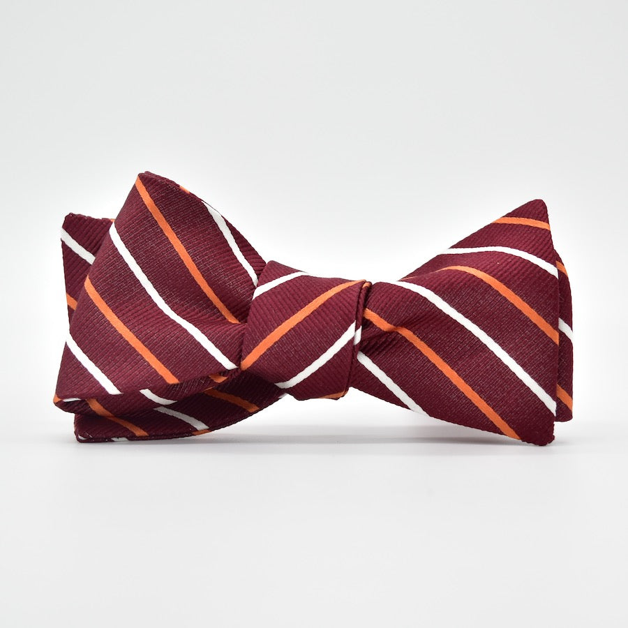 Lewis: Bow Tie - Maroon/Orange
