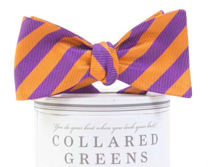 Collegiate Bow Tie Purple/Orange