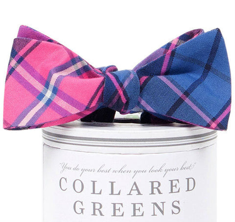 Spyglass Plaid Bow Tie Pink/Blue - Collared Greens