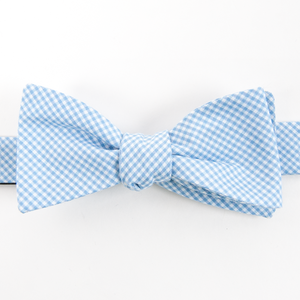 American Made Collared Greens Cotton Self Tie Bow Tie Barbaro Gingham Carolina