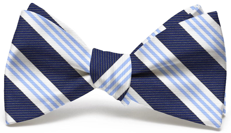 American Made Collared Greens Bow Tie Navy/Blue Made in the USA