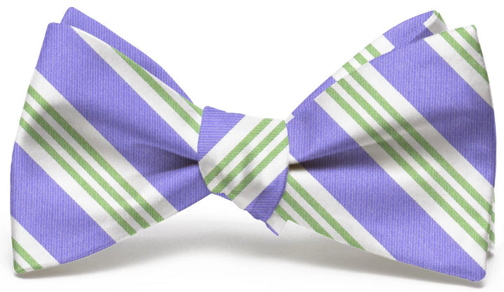 American Made Collared Greens Bow Tie Purple/Green Made in the USA