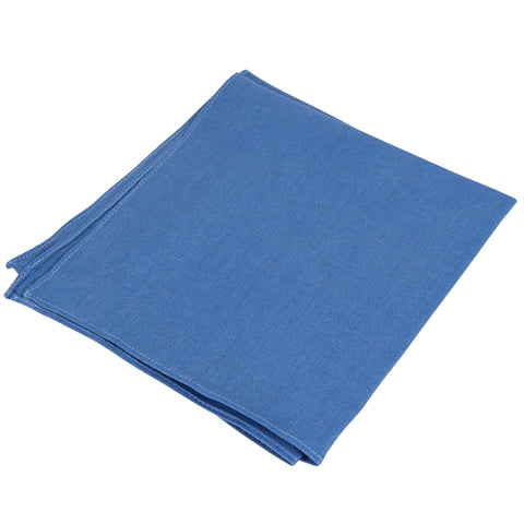 Pocket Square Blue Linen