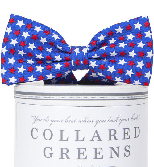 Boys Freedom Stars Bow Tie Boys Bow Ties - Collared Greens American Made