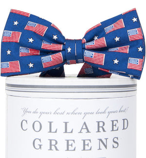 Boys Old Glory Bow Tie Boys Bow Ties - Collared Greens American Made