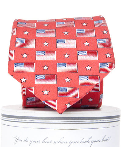 Boys Old Glory Tie Boys Ties - Collared Greens American Made