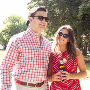 Arlington: Button Down Shirt - Red/Navy