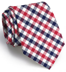 Collegiate Quad: Tie - Red/Navy