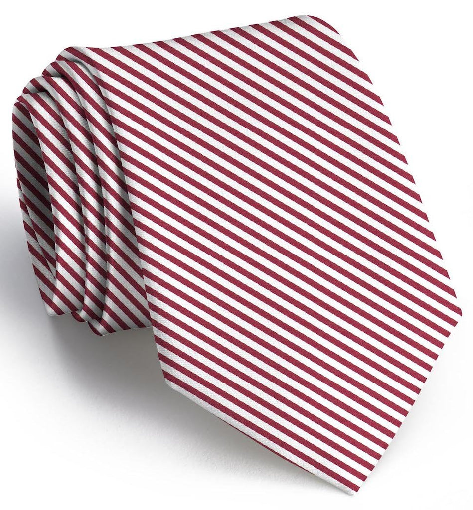 Signature Stripe: Extra Long - Crimson