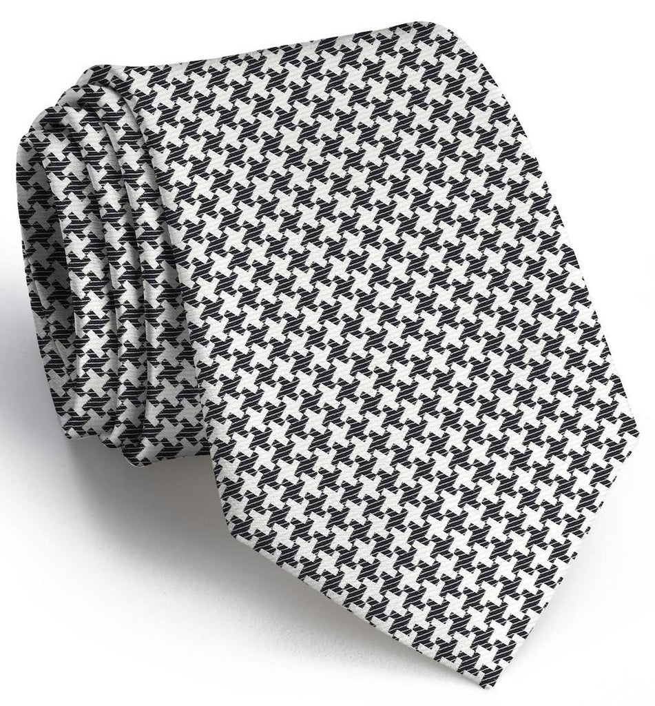 Gatsby Houndstooth: Extra Long - Black/White
