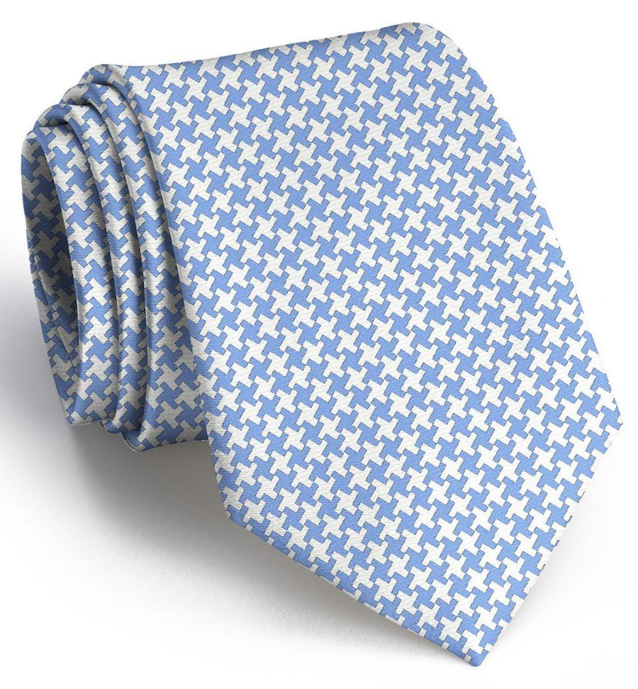 Gatsby Houndstooth: Extra Long - Light Blue