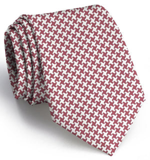 Gatsby Houndstooth: Extra Long - Crimson