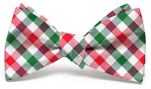 Collegiate Quad: Bow Tie - Red/Green