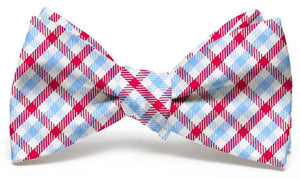 Gameday: Bow Tie - Light Blue/Red