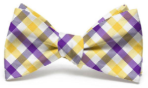 Collegiate Quad: Bow Tie - Purple/Yellow