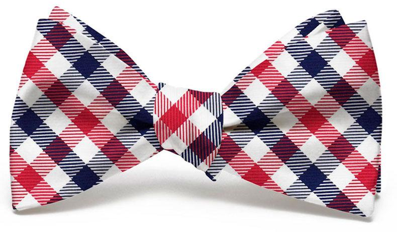 Collegiate Quad: Bow Tie - Red/Navy