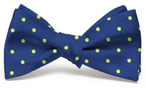 Spot On: Bow Tie - Navy/Lime