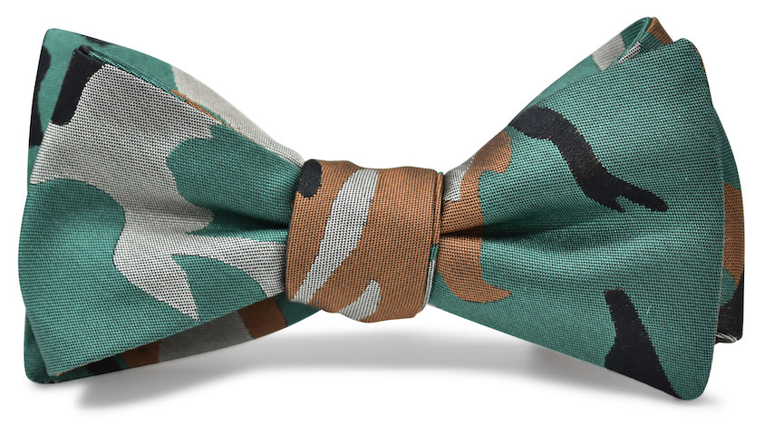 Camo: Bow Tie - Brown/Green