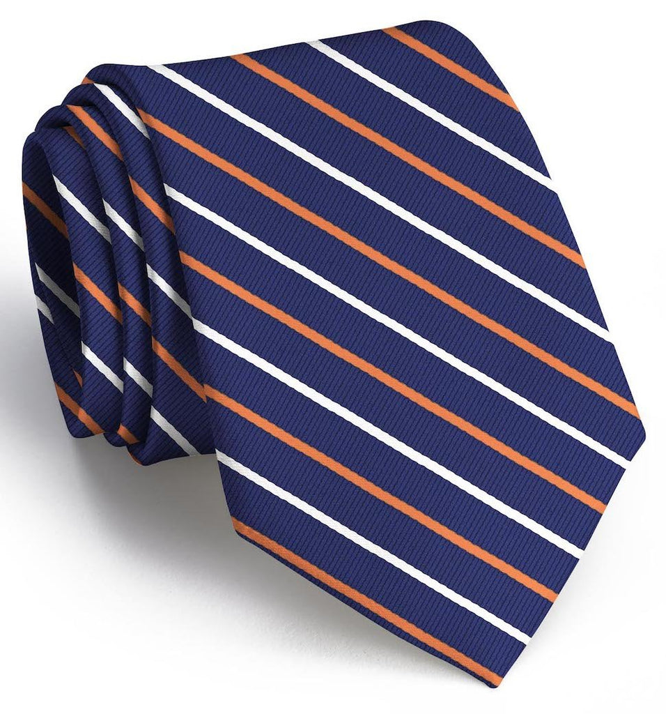 Lewis: Tie - Navy/Orange