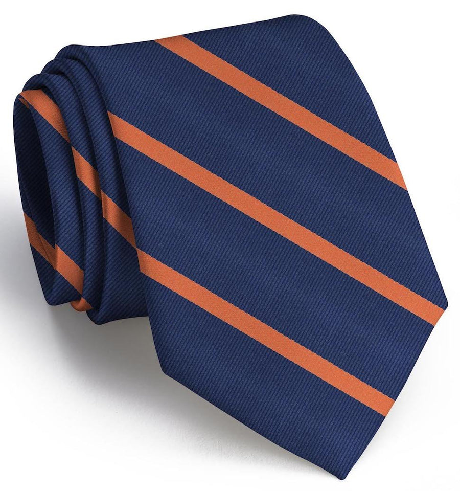 Stowe: Tie - Navy/Orange