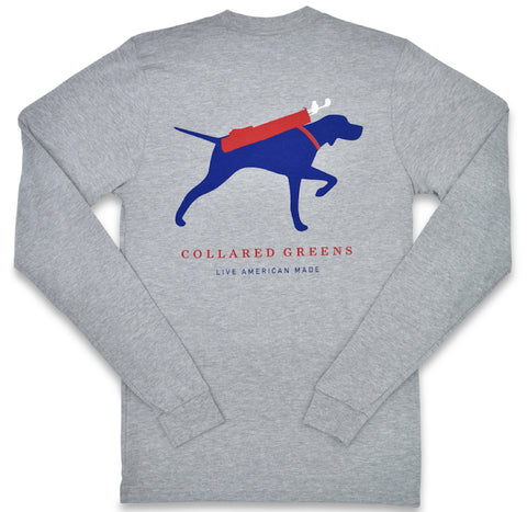 Canine Caddy: Long Sleeve T-Shirt - Gray