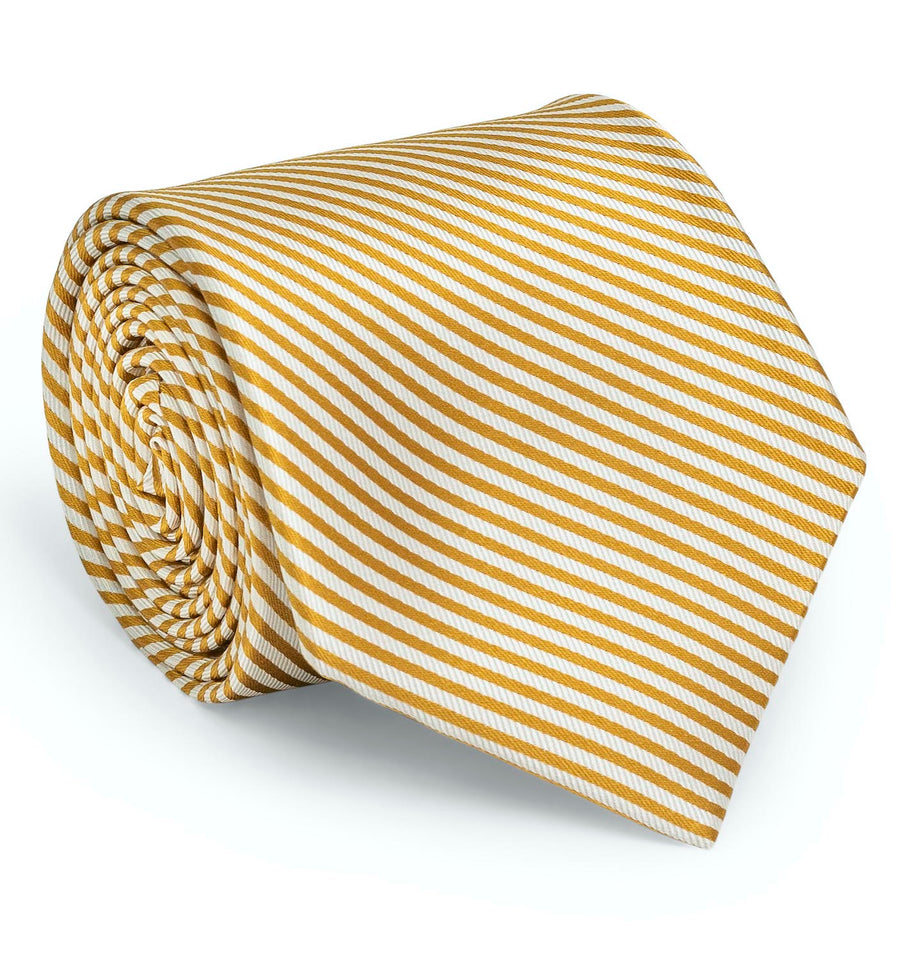 Signature Stripe: Tie - Gold