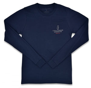 Outboard: Long Sleeve T-Shirt - Navy