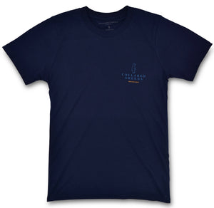 Rainbow Trout: Short Sleeve T-Shirt - Navy (Small)