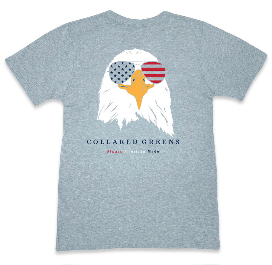 Bald Eagle: Short Sleeve T-Shirt - Gray