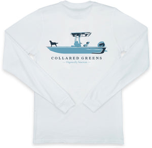 Weekend Skiff: Long Sleeve T-Shirt - White