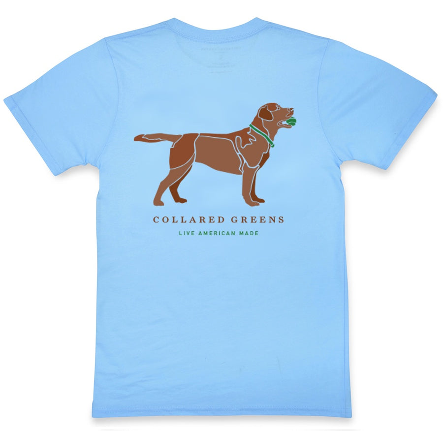 Good Boy: Short Sleeve T-Shirt - Chocolate Lab on Carolina