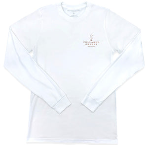 American Longhorn: Long Sleeve T-Shirt - White