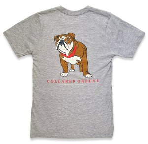Bulldog Blues: Short Sleeve T-Shirt - Gray