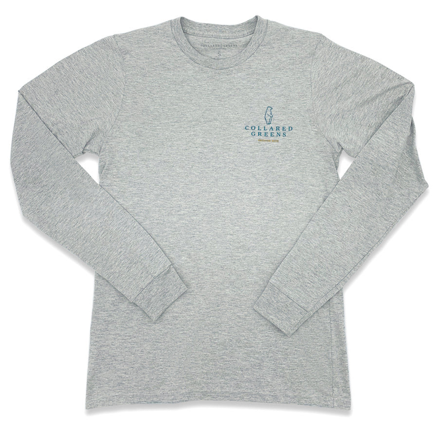 Deep Woods Angler: Long Sleeve T-Shirt - Gray