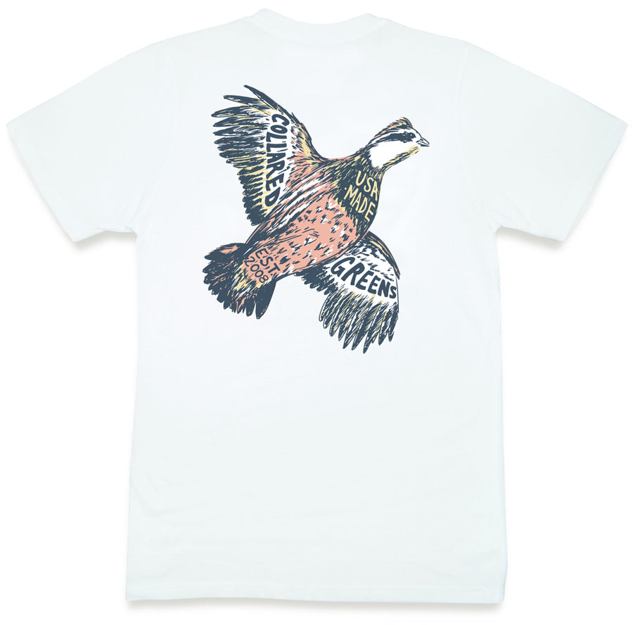 Southern Quail: Short Sleeve T-Shirt - White
