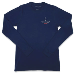 Trout Flag: Long Sleeve T-Shirt - Navy