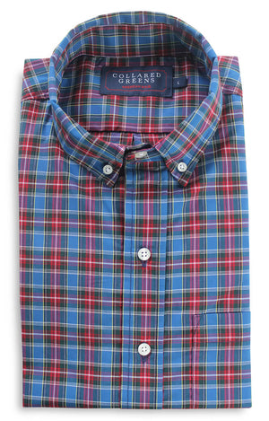 Baxter: Brookline Button Down Shirt - Blue/Red