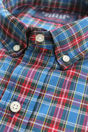Baxter: Button Down Shirt - Blue/Red