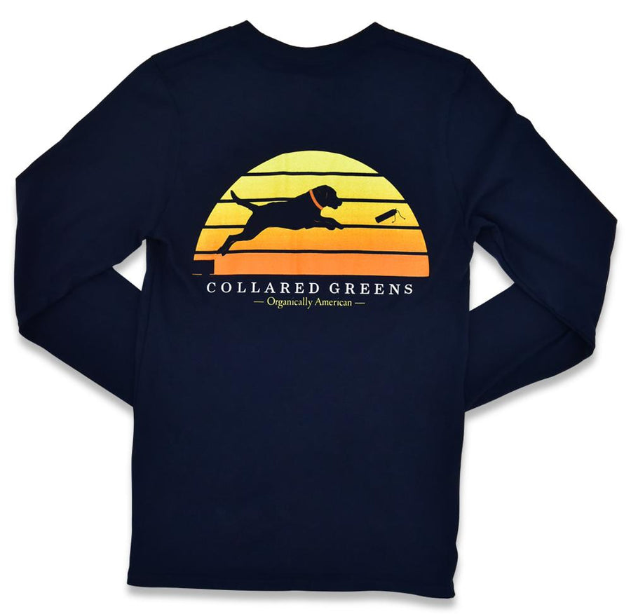 Dock Dog: Long Sleeve T-Shirt - Navy