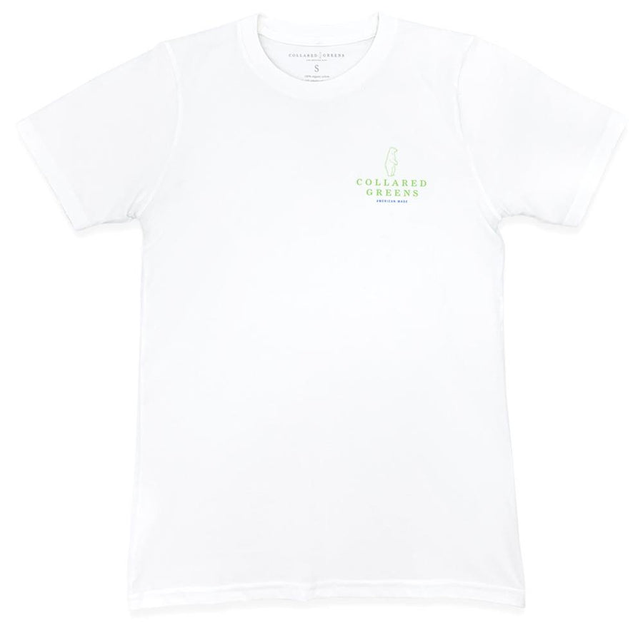 Palmetto Bear: Short Sleeve T-Shirt - White