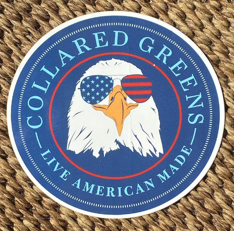 Bald Eagle: Sticker - Navy
