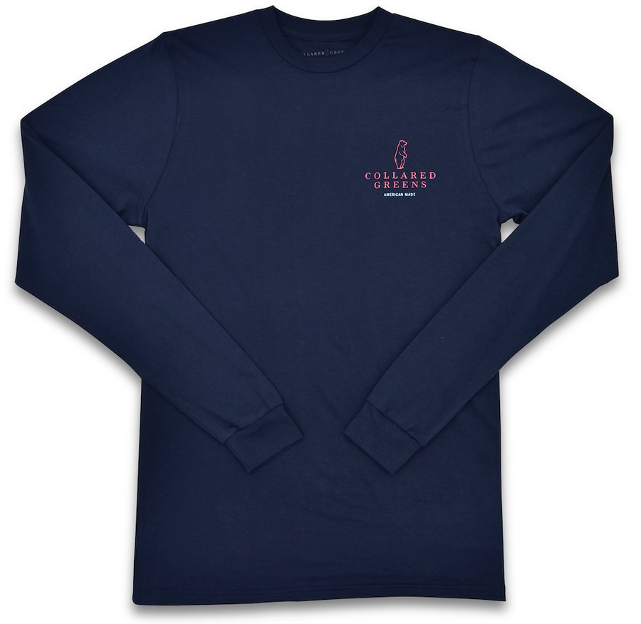Blue Crab: Long Sleeve T-Shirt - Navy