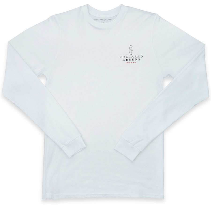 Grateful Bear: Long Sleeve T-Shirt - White