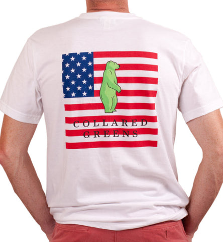 American Flag T-Shirt White XXL Only
