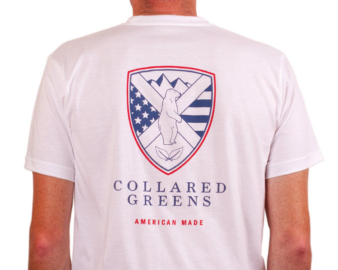 Shield T-Shirt White American Made