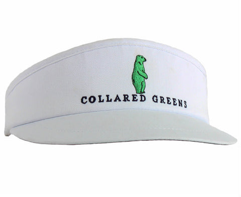 Collared Greens Pro Tour Visor White