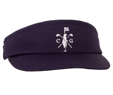 Collared Greens Long Ball Visor Navy
