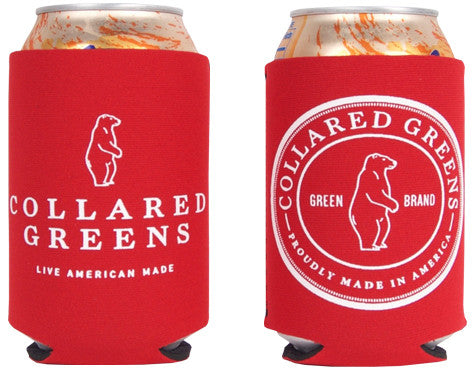 Circle Logo Koozie Cherry Red